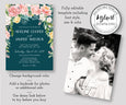 Watercolor Floral Wedding Invitation Front and Back