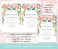 Watercolor Floral Wedding Invitation Template Where to Print