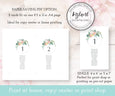 Pink Blush Floral Wedding Seating Chart, Seating Assignment Cards, Instant Download Editable Template