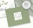 "Watercolor Greenery, Return Address Sticker Template, Wedding Address Label, DIY Address Stickers, 2 x 2"" Instant Download Editable Template"
