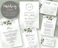 Watercolor Greenery Wedding Stationery Matching Items