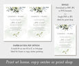 Watercolor Greenery, Change of Plans, Postponed Wedding Announcement, Rescheduled Wedding, Watercolor Greenery, Editable Template, Instant Download, PDF, JPG, PNG