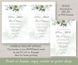 Watercolor Boho Greenery with Eucalyptus Leaves Wedding Invitation download options