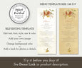 Rustic Fall Floral Menu Editable Template