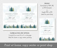 Change of Plans, Postponed Wedding Announcement, Rescheduled Wedding Postcard, Editable Template, Instant Download, Mountains Trees, Download options