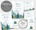 W107 Rustic mountains and pines wedding statonery & matching items