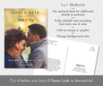 "5 x 7"" photo save the date card with optional post card back"