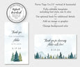 Vertical and horizontal rustic mountain pines favor tags