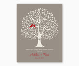 Above All, Love Each Othe Deeply, 1 Peter 4:8, Love Birds in Tree, Wedding or Anniversary Wall Art, Ruby birds