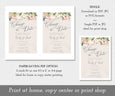 Floral Change the Date, Postponed Wedding Announcement, New Wedding Date, Save Our New Date, Digital Instant Download Editable Template, File formats