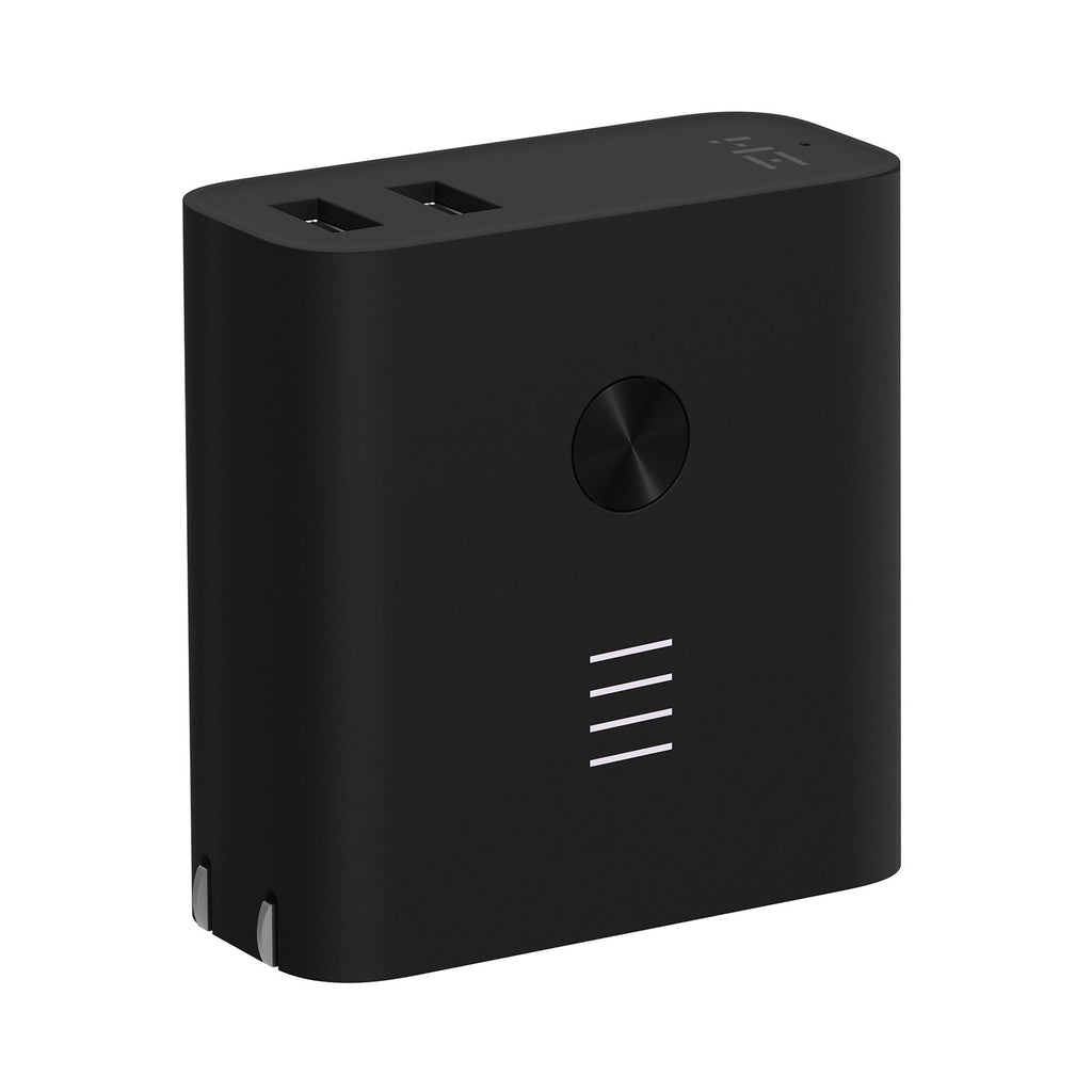 Plugornot Zero 6700mAh Integrated Battery Fast Charge USB Power Adapter