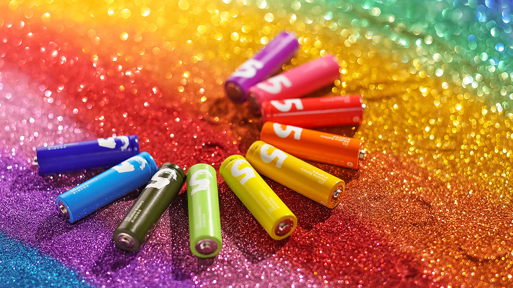 ZMI Rainbow Novelty Alkaline Batteries