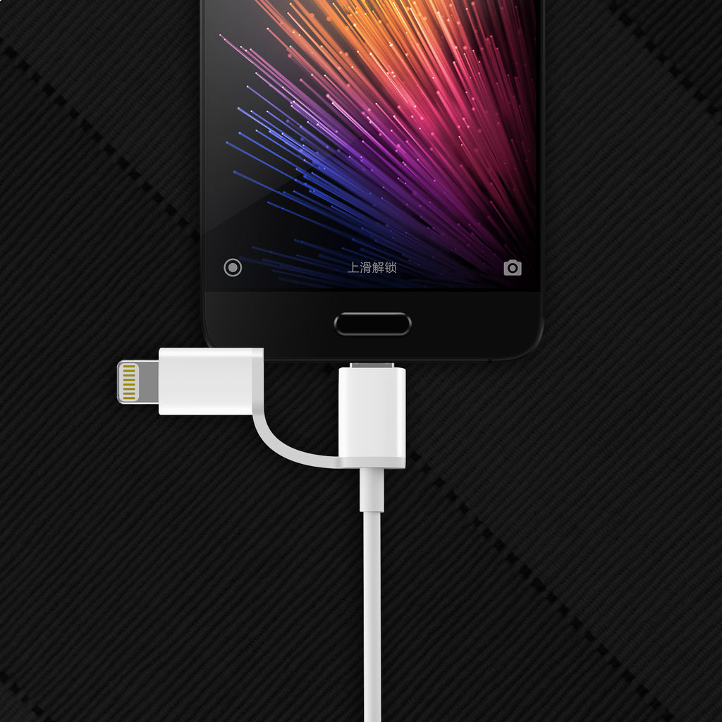 ZMI 2-in-1 Lightning & Micro-USB Combo Cable for iPhone, iPad and Android 3.3ft