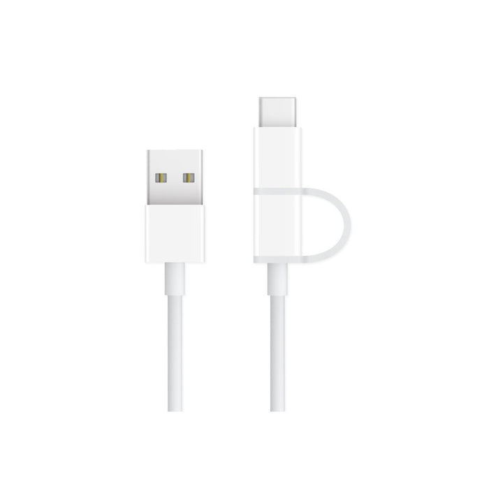 [2-Pack] 2-in-1 Micro-USB and USB-C Cables for Charge and Sync