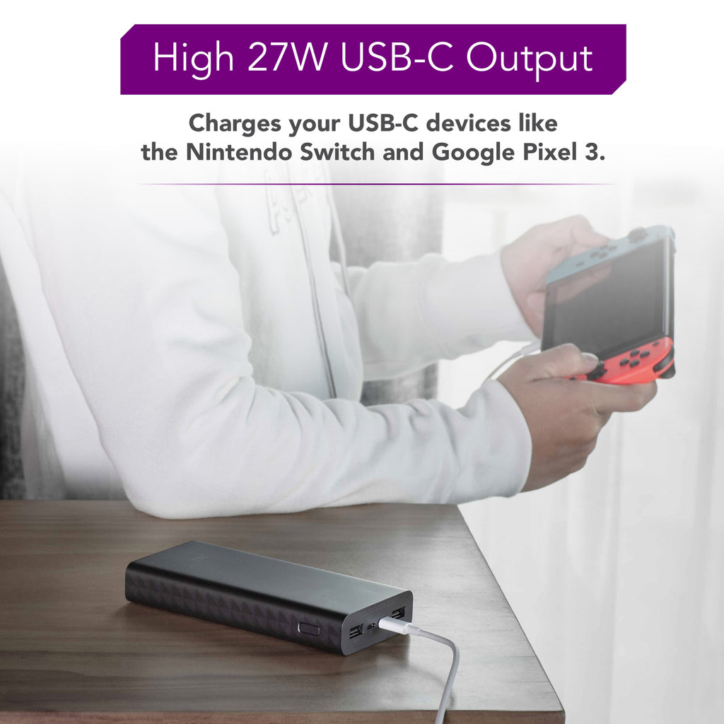 PowerPack Aura 20K - 20000 mAh USB-C PD Power Bank (27W)