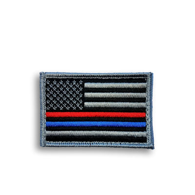 Flag Patch | Thin Line Red Blue