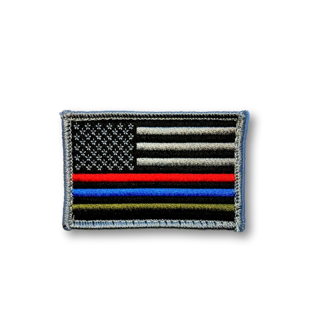 Flag Patch | Thin Line Red Blue Green