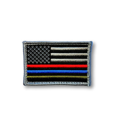 Step 22 Gear Flag Patch Thin Line Red Blue Green