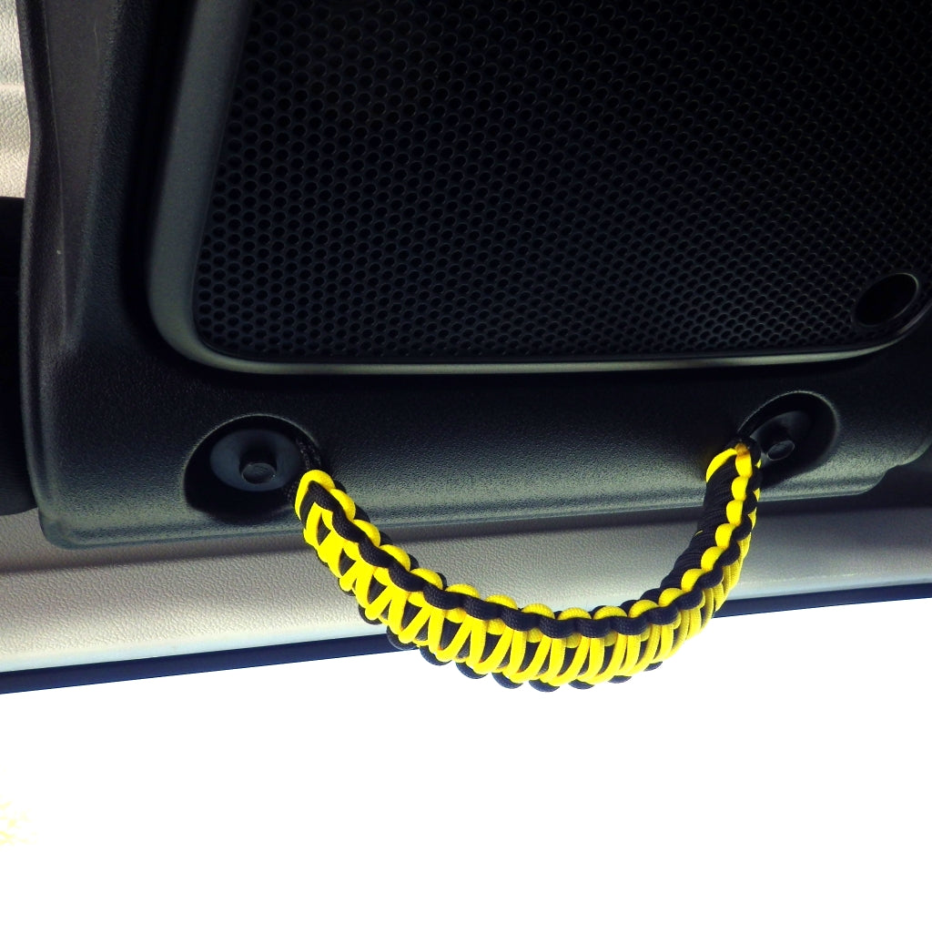 Jeep JK Sound Bar Paracord Grab Handles | STEP 22 Gear Yellow