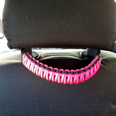 Paracord Headrest Grab Handles | STEP 22 Pink