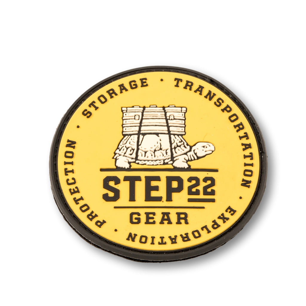 STEP 22 Gear Logo PVC Patch Yellow