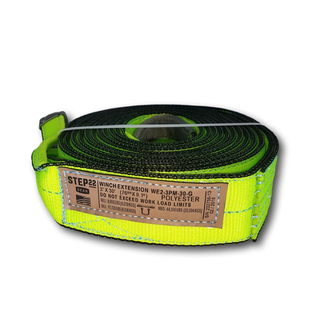 Winch Extension Strap 3 Inch MBS 44,300 LBS