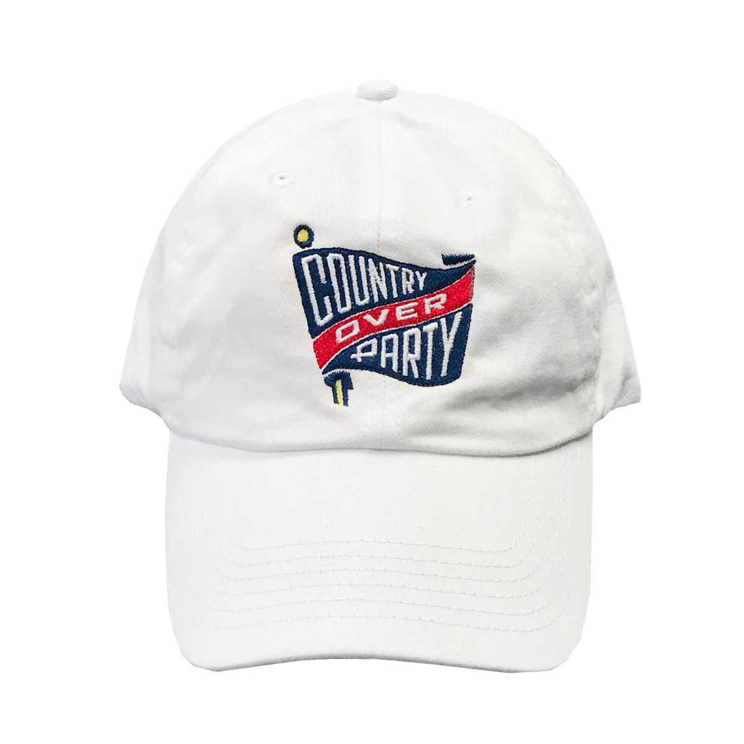 White Country Over Party Hat