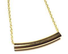Gold bar arc necklace - Whitestone jewelry co.