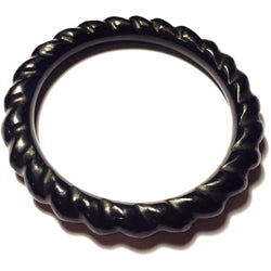 Black Onyx Spiral Bangle Bracelet-Whitestone Jewelry Co.