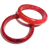 Chicken Blood Jade Bangle Bracelet-4-Whitestone Jewelry Co.