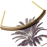Gold Bar Arc Necklace-Whitestone Jewelry Co.