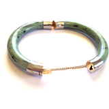 Jade Bangle Bracelet with Clasp-Whitestone Jewelry Co.