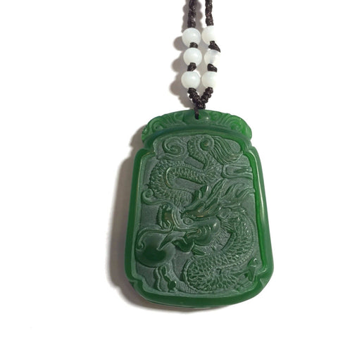 Jade Dragon Necklace-Whitestone Jewelry Co.