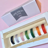 Rainbow Macaron Stone Ring Set-Whitestone Jewelry Co.