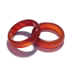 Strawberry Rhubarb Agate Stone Ring-Whitestone Jewelry Co.