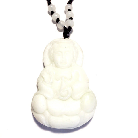 White Jade Buddha Necklace-Whitestone Jewelry Co.