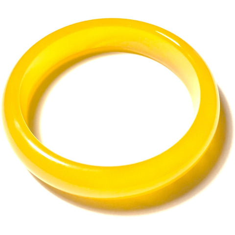 Yellow Agate Bangle Bracelet-Whitestone Jewelry Co.
