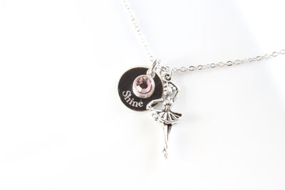 Ballerina Necklace, ballet necklace, small ballerina jewelry - Beautiz
