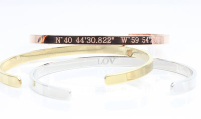 Gold, Rose Gold, Silver Custom Coordinate Bangle Bracelet - product_type] - Beautiz