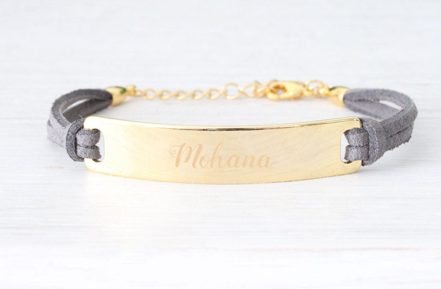 Personalized Medical ID Gold Bracelet - product_type] - Beautiz