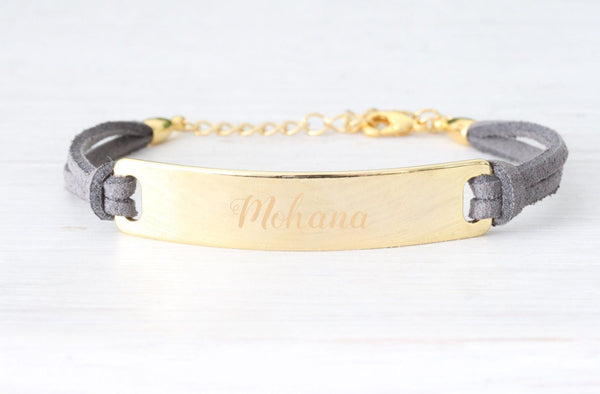 Personalized Gold Bracelet Personalized Medical ID Beautiz