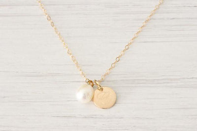 Personalized Gold filled Initial Monogram Necklace - product_type] - Beautiz