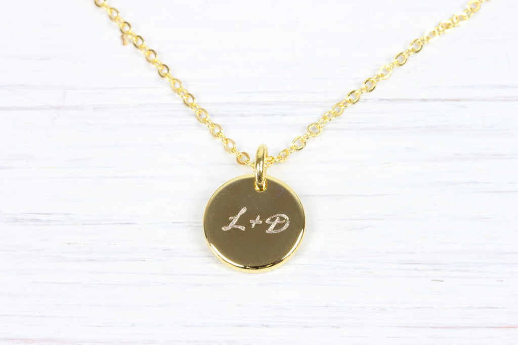 d726f3c2002ee3 Personalized Gold Name Initial Monogram Necklace, Engraved Necklace, G