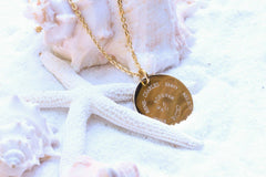 Personalized Gold Necklace, Circle name, Monogram, Initial Med Beautiz