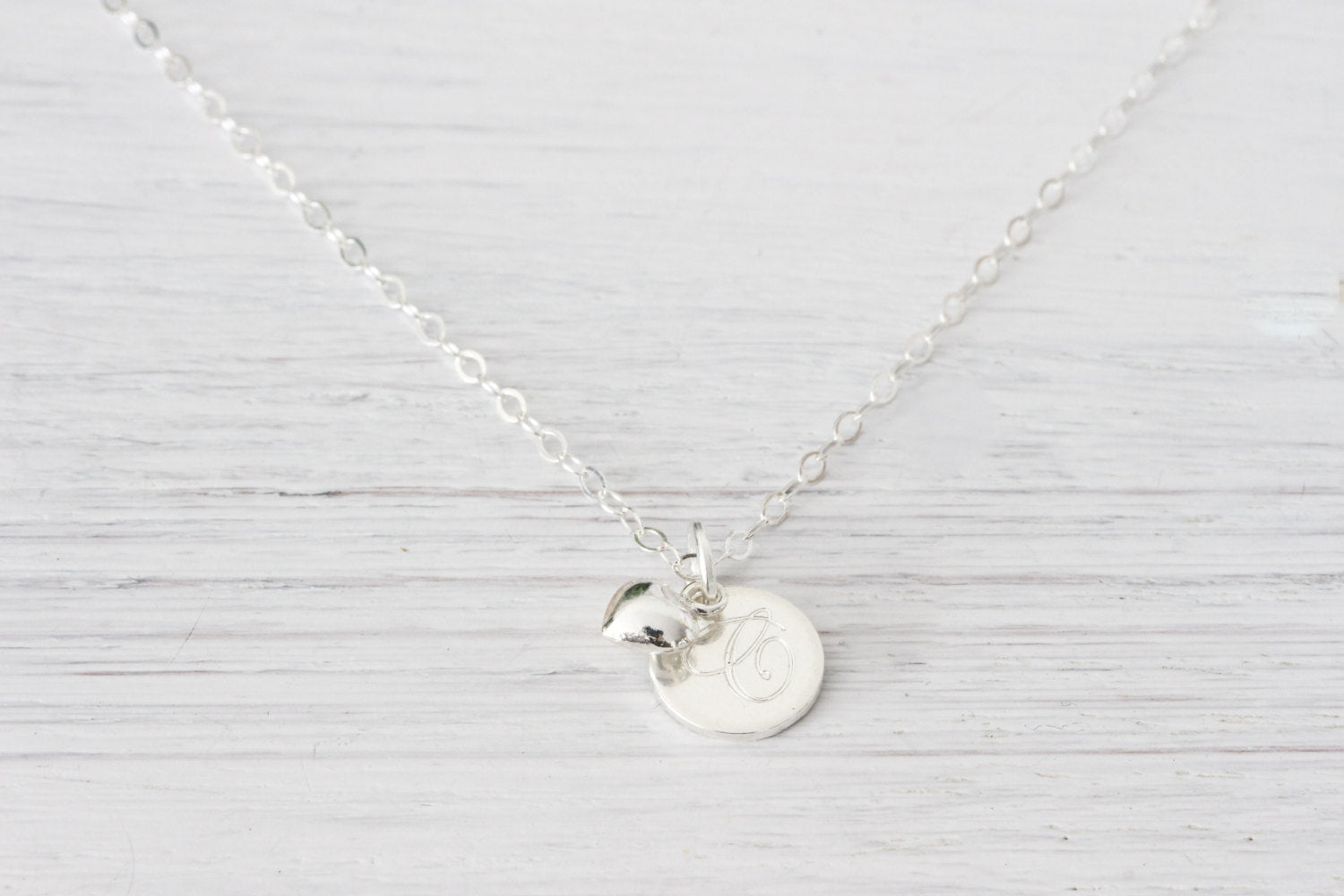 personalized sterling silver necklace jewelry initial monogram name en