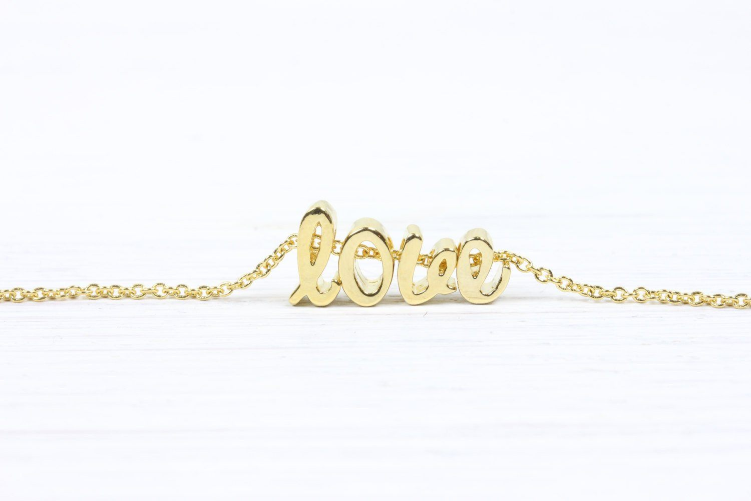 Gold Initial Cursive Letters Necklace - product_type] - Beautiz