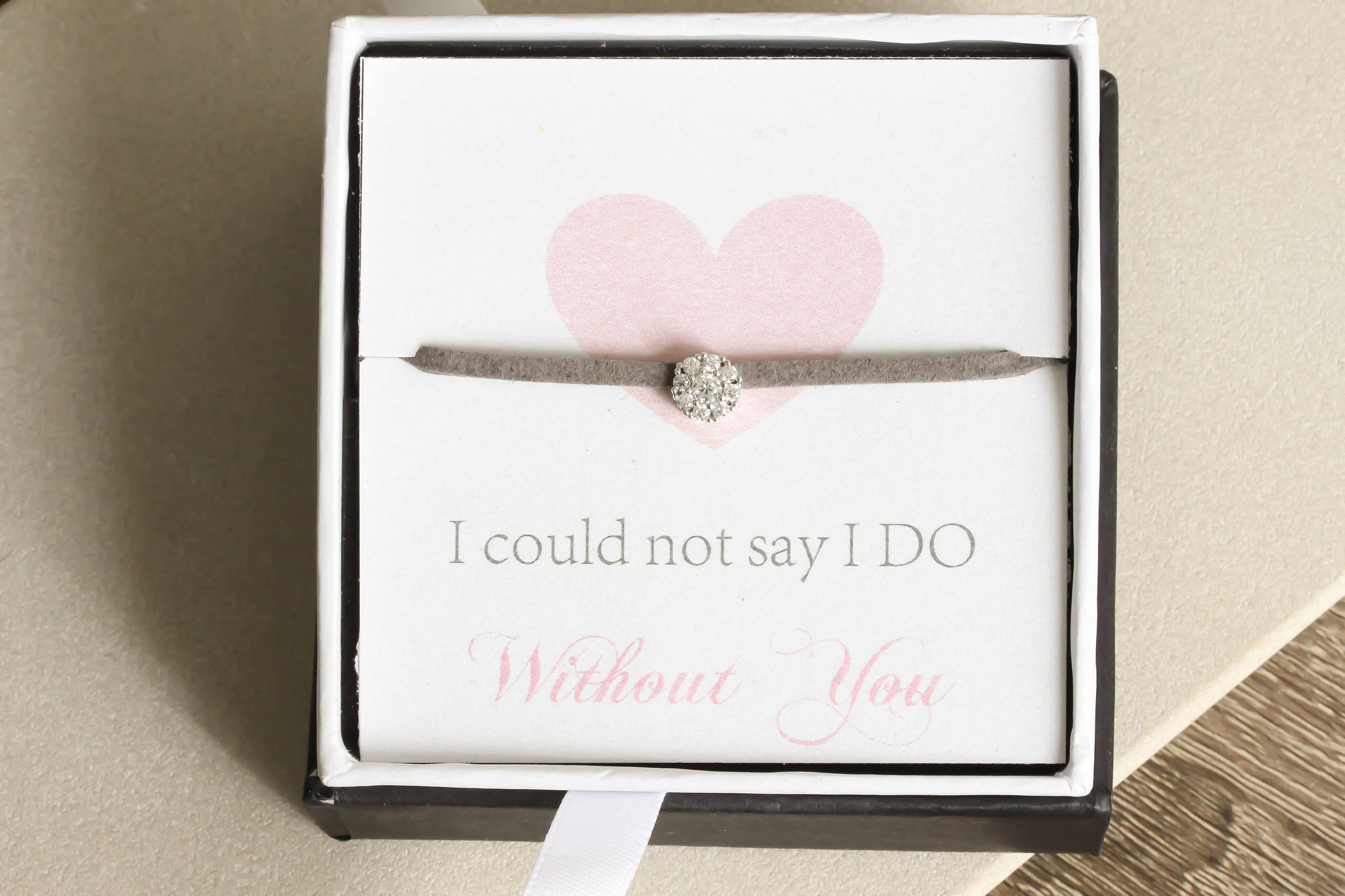 I couldnt say I do without you Bracelet Bridesmaid maid of honor gift wedding jewelry bridesmaid proposal bracelet bridal party gift - product_type] - Beautiz