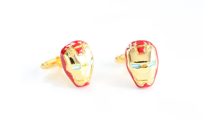 Ironman Cufflinks, Superhero Cufflinks, Gold Cufflinks, Novelty Cufflinks, Wedding Cufflinks, Groomsmen cufflinks, Cool iron man mens gifts - product_type] - Beautiz