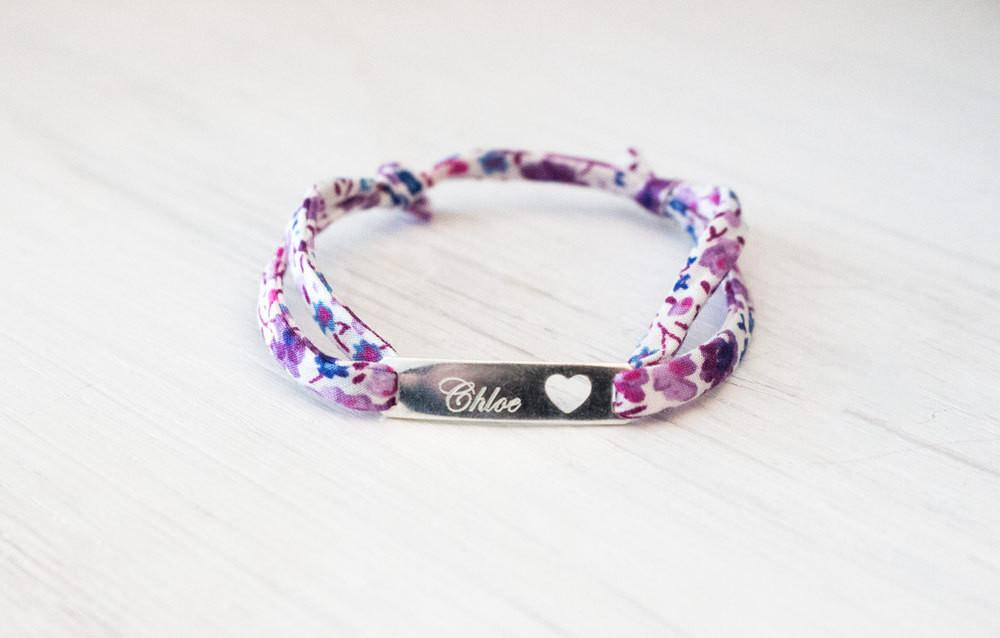 Personalized Sterling Silver Kids Liberty of London Bracelet - product_type] - Beautiz