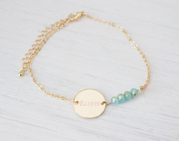 Personalized Stamped - Engraved Women Children Bracelet - Gift Beautiz
